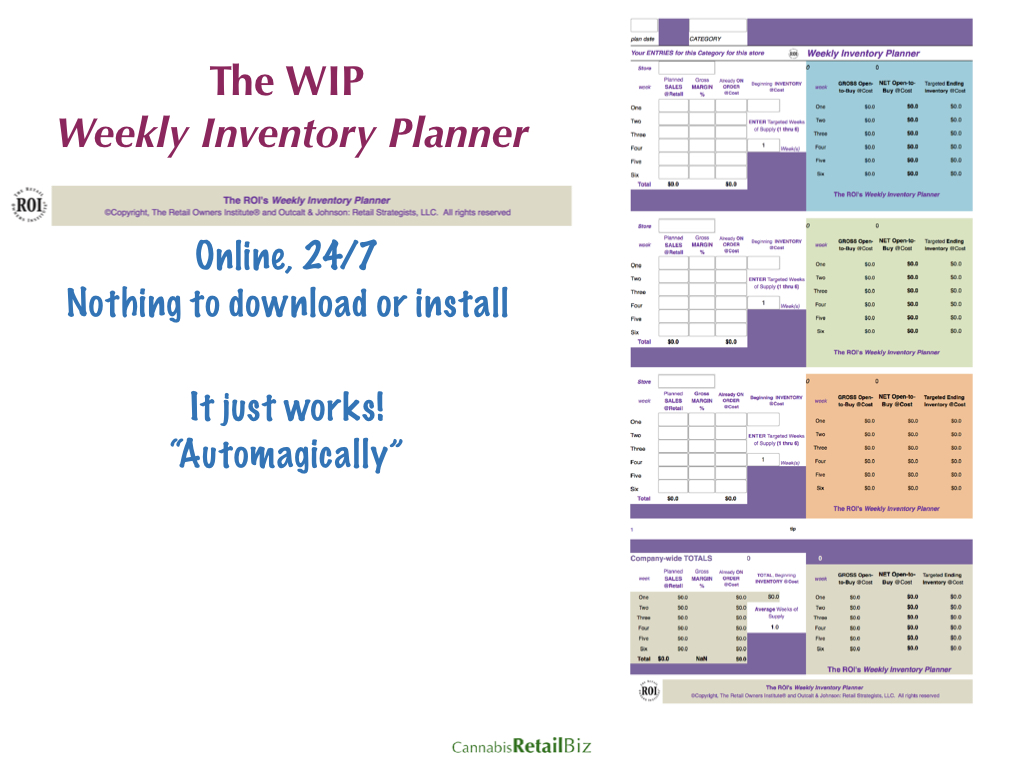 The WIP Weekly Inventory Planner